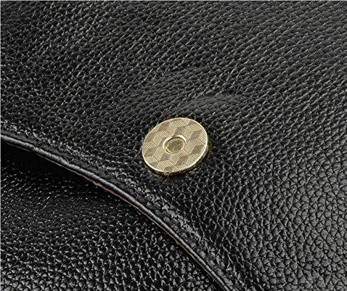 La Signora Borsa A Tracolla In Pelle Di Lusso Zaino Black