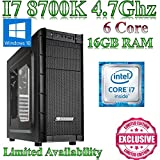 Windows 10 Intel Z370 I7 8700K, Music Production / Desktop PC, 16GB RAM, 1000GB HDD,On Board Graphics, Akasa Cooler, Ultra Quiet PSU. Windows 10 This powerful Coffee Lake gaming pc comes with Intel I7 8700K, Gaming, 16GB ram and a 1000GB hard drive.On Board Graphics & Gigabyte Z370 HD3 fitted into a Archon Gaming Case from N C Gaming Ltd.