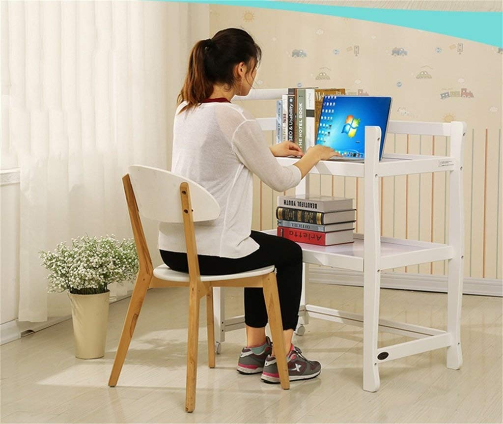 YRR Changing Table, Three Layers Solid Wood Baby Nursing Desk Shower Stand Massage Table, Multi Open Storage Nursery Changing Table for Infants Or Babies (Color : White)  ★Made of rugged material, safe and sturdy construction, and quick and easy assembly design, it is also easy to wipe and clean, foldable, easy to carry, and can be deployed in seconds or indoors. Keep your baby safe ★Outside diameter size: 90*51*105, Table height: 81cm,Interlamellar height: 28cm,Table size: 76*46 cm,Nursing countertop thickness: 8 cm,Storage surface thickness: 4.5 cm,Applicable baby age: 0~3 years old,Can carry weight: less than 30 kg. ★Caster design, equipped with special fixing screws and spanners, easy installation, one-key locking, safe and convenient. 2
