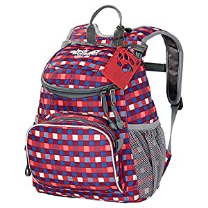 Jack Wolfskin Little Joe Children's Rucksack Multi-Coloured Cherry Petit Checks Size:31 x 26 x 23 cm, 11 Liter