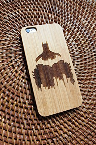�r iPhone (handgefertigt, mit Batman-Logo, umweltfreundliches Holz, DC Comics-Design), iPhone 6 (s), Bambus ()