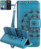 Samsung Galaxy J3 J310 H�lle,Nnopbeclik� Sch�ne Blumen Magnetische Stil PU Ledertasche Brieftasche Flip Stand  Cover mit ID & Kreditkartenhalter f�r Samsung Galaxy J3 2016 5.0 Zoll Bild