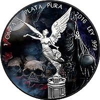 SANTA MUERTE Mexican Libertad 1 Oz Moneta Argento Messico 2016 Monete (1 Oz Argento Bu Bu Coin)