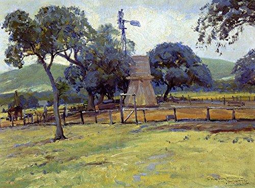 Das Museum Outlet-Windmühle auf Williams Ranch, gespannte Leinwand Galerie verpackt. 29,7x 41,9cm