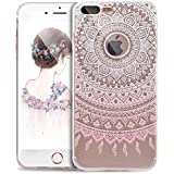 Cover iPhone 7 Plus,Cover iPhone 7 Plus,Custodia iPhone 7 Plus Cover,ikasus® iPhone 7 Plus disegno colorato TPU con Rosa girasole Custodia Cover [Crystal TPU] [Shock-Absorption] Protettiva Trasparente Ultra Sottile Silicone Gel Cover Custodia chic disegno colorato Clear Case Super Sottile Bumper Case Custodia Cover per Apple iPhone 7 Plus - rosa modello semi di girasole