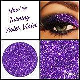 Prima trucco you' re girando viola, viola viola pressato glitter ombretto labbra