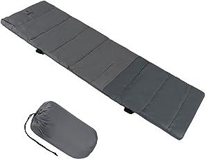 ALPIDEX universelle Feldbettauflage in Unterschiedlichen Größen mit Kissenfach, Fixierbändern und Packsack