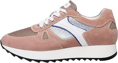 Nero Giardini E010524D Sneakers Donna in Pelle, Camoscio E Tela