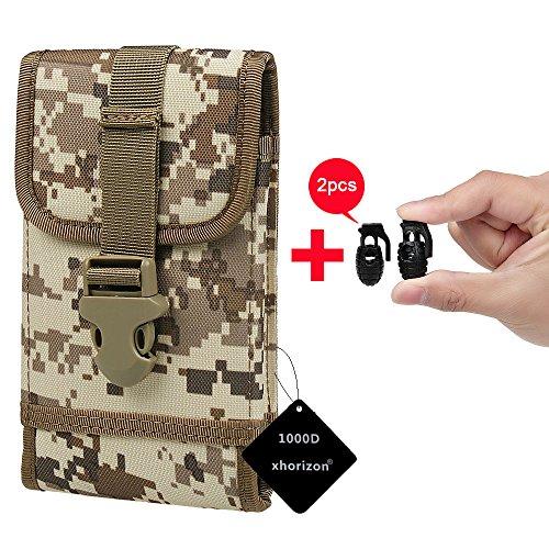 xhorizon(TM)MW8 1000D NylonArmee Camo TouchDienstTactical MOLLE UniversalMultifunktionsgürteltasche Holster für Multi Handy Modell #A7 Camouflage Wüste