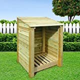BURLEY 4FT, WOODEN LOG STORE/GARDEN STORAGE, GREEN, HEAVY DUTY, HAND MADE, PRESSURE TREATED. Best Review Guide