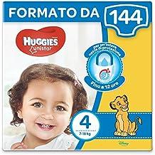Huggies Unistar Pannolini, Taglia 4 (7-18 kg), 8 Confezioni da 18 [144 Pannolini]