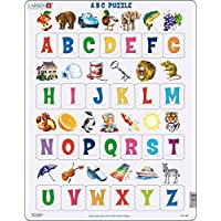 Larsen LS826 Learn the Alphabet: 26 Upper Case Letters, Jigsaw Puzzle with 26 Pieces