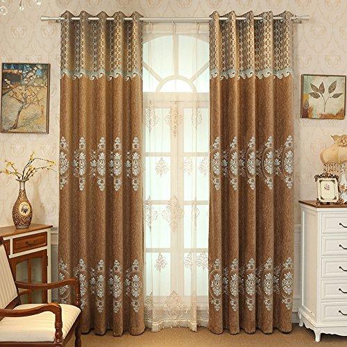 Jasmine & Co Curtains dekoration farbe isoliert european chenille fabric boden nordic mode einfach modern 1 Panels-B W350*H270cm(138*106inch) (Fabric Moda Panel)