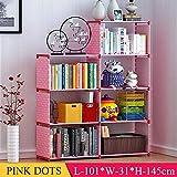 Bücherregal Vlies Wohnzimmer Flur Lagerung Pink Dots
