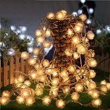 Hukz 2.5M 20LED Fairy String Licht Löwenzahn Shaped Vorhang Lampe Party Hochzeit Outdoor-Dekor,Dekoration für Weihnachten, Hochzeit, Party, Haus, Terrasse Rasen (Gelb)
