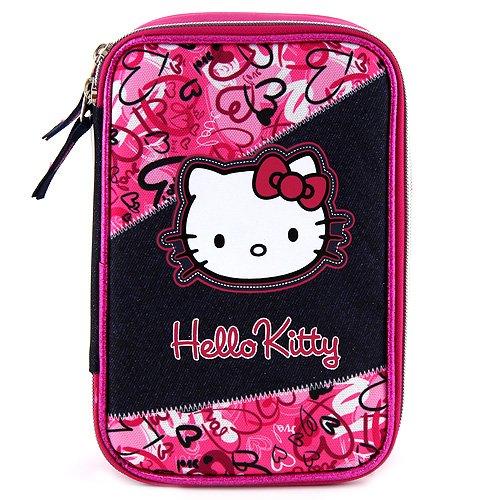 Target Hello Kitty Pencil Case Estuches, 23 cm, Rosa (Pink/Black)