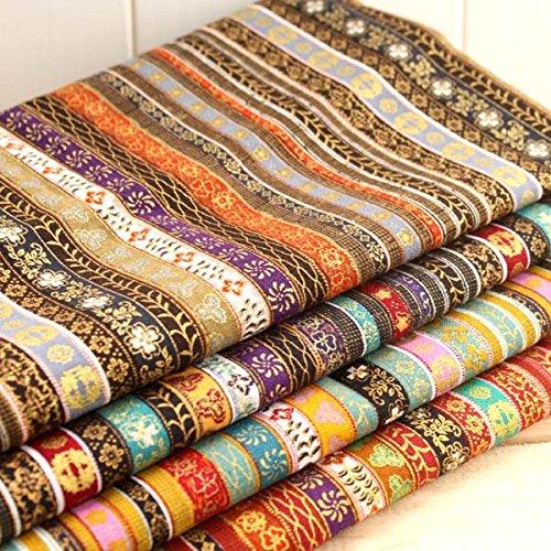 4 Telas exoticas africanas colores tribales de 50 X 70 cm para cojines, tapizar sillas, bolsos, tapices, manualidades, costura, forrar diarios,hogar...de OPEN BUY