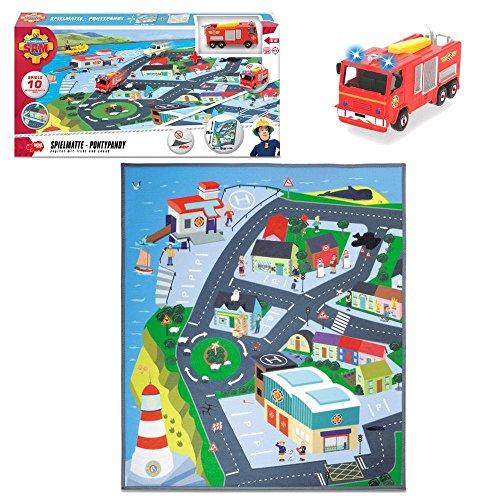 Feuerwehrmann Sam - Spielmatte Spielteppich Pontypandy 80x70 cm