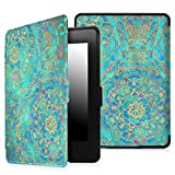 Fintie SmartShell Case for Kindle Paperwhite - The Thinnest and Lightest Cover With Auto Sleep / Wake for All-New Amazon Kindle Paperwhite (Fits All 2012, 2013, 2015 and 2016 Versions), Shades of Blue