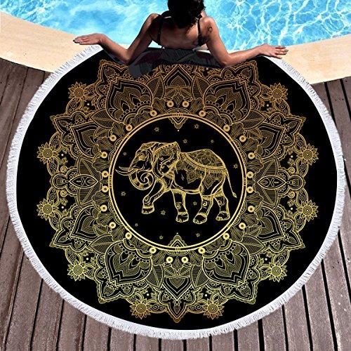 yeahracing rger playa paños, toalla de sauna, Exquisit Verano Bohemia. Elefantes redondas–Esterilla...