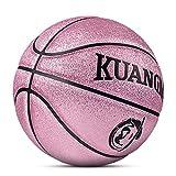 Kuangmi Reinigen Basketball Ball Gr??e 5 F¨¹r Kinder Kinder Indoor Outdoor Verwendung, Rose