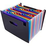 SKEIDO 24 Pockets Expanding File Folder Organiser A4 Filing Folders Business Home Office Document Accordion File Storage Bag,