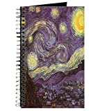 CafePress – Van Gogh Nuit étoilée – spirales Journal ordinateur portable, journal intime, DOT Grid