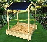 PROMADINO Sandkasten PETER mit Dach 100x100x132cm Sandkiste 356/5