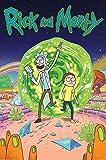 Pyramid International Portal Poster de Rick et Jojo, plastique/verre, Multicolore, 61x 91.5x 1.3cm
