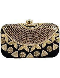 Tooba Women's Sequence Necklace Box Clutch
