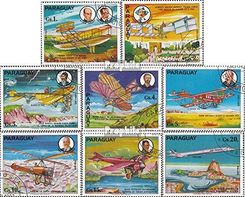Prophila Collection Paraguay 2929-2936 (kompl.Ausg.) 1977 Geschichte der Luftfahrt (Briefmarken für Sammler) Luftfahrt