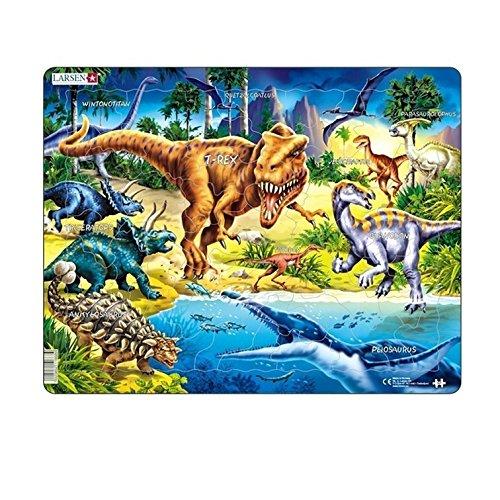 Larsen NB3Dinosaurier aus der Kreidezeit ausstarben Puzzle - Stück 24 Dinosaurier-puzzle