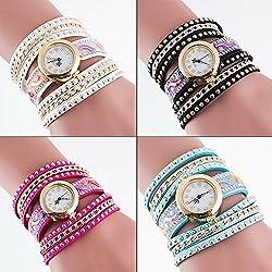 SSITG Women Quartz Analogue Watch Wrap Bracelet Wrist Watch