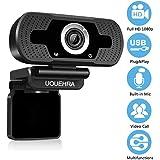 Webcam HD 1080P con microfono incorporato per la riduzione del rumore, videocamera senza ritardi, videocamera USB widescreen