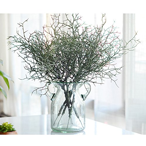lianle-1pcs-artificial-small-tree-dried-branches-green-plants-for-home-decor-without-vasedarkgreen