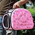 yimidear breathable folding outdoor pet bag for dog cat comfort travel medium size pet carrier (pink) Yimidear Breathable Folding Outdoor Pet bag for Dog Cat Comfort Travel Medium Size Pet Carrier (Pink) 61rFoaJffbL