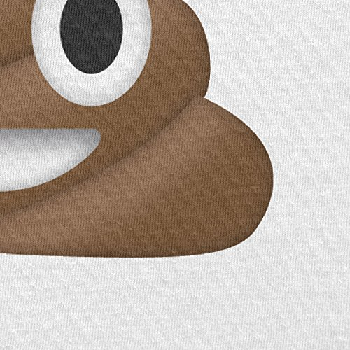 TEXLAB - Poo Emoji - Herren T-Shirt Weiß