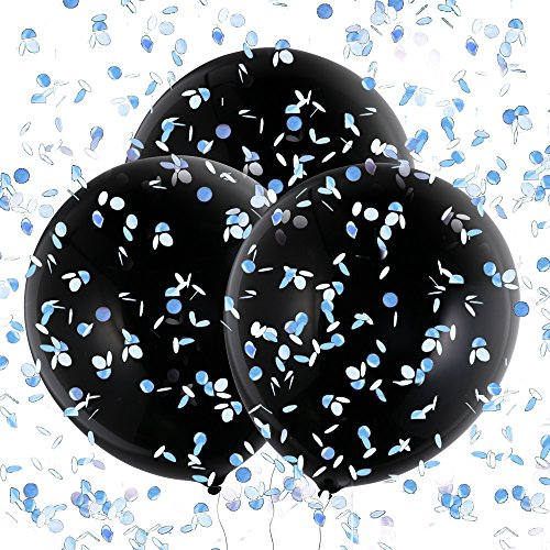 Konsait Geschlecht Baby Ballon Latex Konfetti Luftballons Helium XXL 36