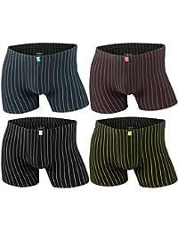 4er | 8er | 12er Pack Herren Retro Boxershorts Remixx schwarz mit farbigen Streifen - Modell 086a exclusive von Lavazio®