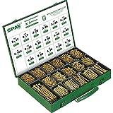 Spax 4000009100009 - Caja de montaje, tornillo de fijación con 17 dimensiones, 3.226 piezas, cabeza avellanada, cruz rece