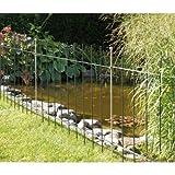 Bellissa-recinzione per laghetto, in ferro forgiato, laccato, 118 cm