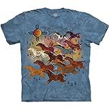 The Mountain unisex-adult Horses & Sun T-Shirt