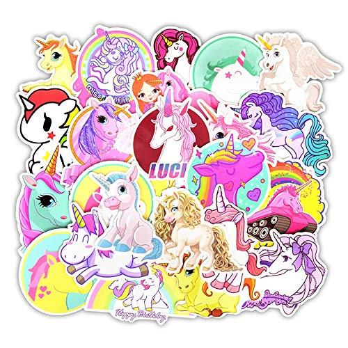 30 Unids Unicornio Pegatina Juguetes para Los Niños Divertido Lindo Anime Dibujos Animados para Skateboard Viaje Maleta Coche Portátil Pegatinas Regalo