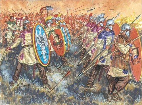 Imagen principal de Italeri 6137S Late Imperial Legion - Figuras de soldados romanos en miniatura (escala 1:72)