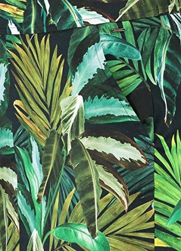 Claudia Sträter Damen Rock mit tropischem Blätterprint Schwarz