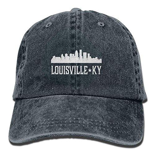 Funny&shirt Louisville Kentucky Skyline KY Cities Unisex Embroidered Cowboy Hat Sun Cap