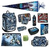Star Wars Schulrucksack Set 18tlg. Federmappe gefüllt, Sporttasche, Schultüte 85cm Scooli Ranzen Twixter SWLS7550