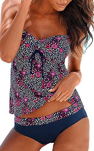 Ladyjiaoswimdress Femme Maillots de Bain Push Up Maillot de Bain Élégant Maillot de Bain + Slip Tankini
