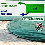 Telo di copertura invernale per piscina 9 X 18 mt - completo di borchie ed elastico