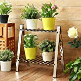 LLDHUAJIA LIANLIAN Edelstahl Trapezblock Rack/Regale Rechteckiges Wohnzimmer Boden Balkon Blumentopf Rack Storage Rack Pflanzenregal
